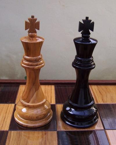 Гигантские шахматы 12`` деревянные фигуры+доска