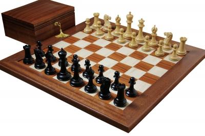 Шахматы Стаунтон - Дизайн 1849 года - Палисандр, Клён