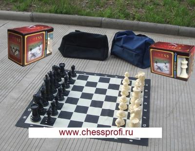 Гигантские шахматы 8`` - готовый комплект: шахматы+доска