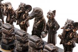 """Комплект шахмат """"Московский бизнес"""" - черные фигуры"""