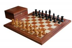 Шахматы Стаунтон - Дизайн 1851 года - Палисандр, Клён
