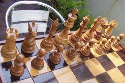 Большие деревянные шахматные доски