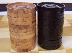 Гигантские шашки 5,25`` деревянные фигуры+доска
