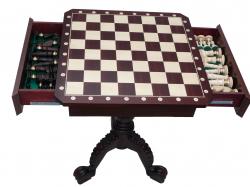Шахматный стол с ящиками для фигур
