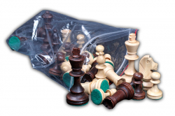 Шахматные фигуры Стаунтон 4 в пластмассовом пакете