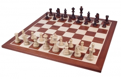 Шахматные фигуры Стаунтон №6 + шахматная доска доска №6