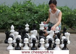 Гигантские шахматы 16`` - комплект: шахматы+доска
