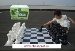 Гигантские шахматы 12`` - комплект: шахматы+доска